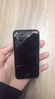 iPhone 4s Icloud Limpo, Sem Botão Power E Tela Trincada.
