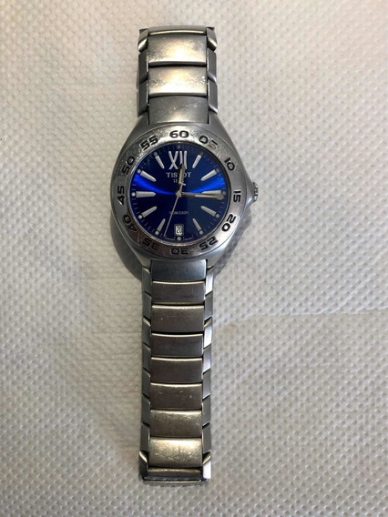 Relógio Tissot 1853 Cristal Safira Modelo S463/563 Azul Aço.