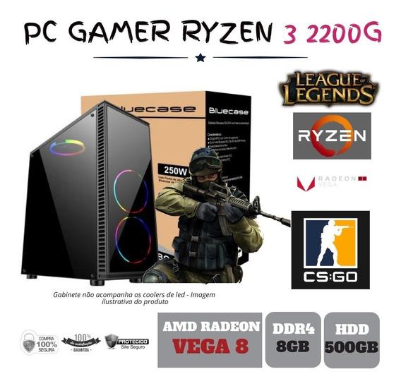 Pc Gamer Amd Ryzen 3 2200g 3.5ghz 8gb Ddr4 Hd 500gb Bg015