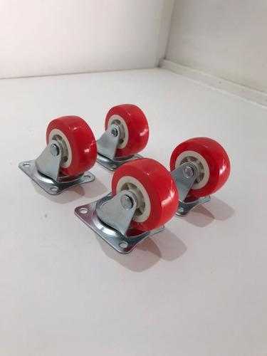 Imagem 1 de 5 de Rodizio/ Rodas 2 Polegadas Grande E Reforçado-  4 Unidades