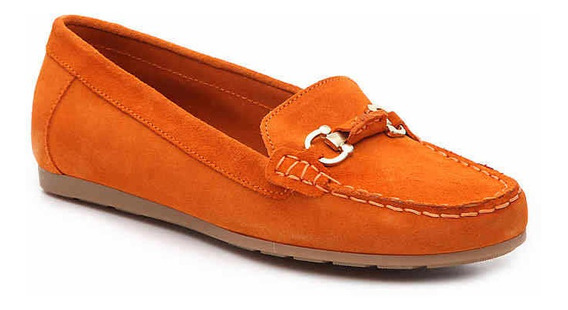 Zapatos Coach And Four Naranja Gamuza 23 25.5 Cm Y 26cmcm