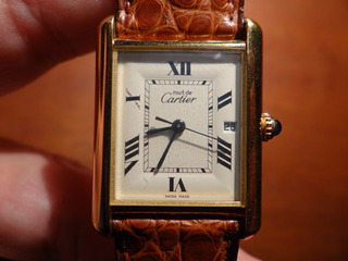 Reloj Cartier Tank Original Oro 18k Plata 950 Hombre