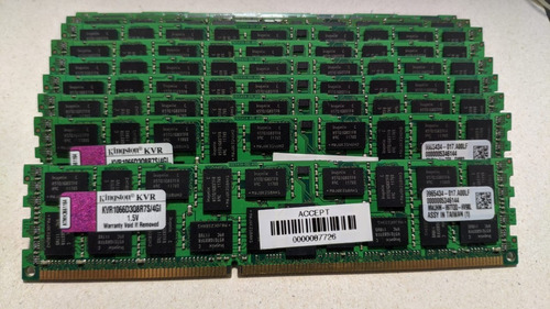 Imagem 1 de 1 de Memória Kingston Ddr3 4gb 1066 Mhz Desktop 16 Chips 1.5v
