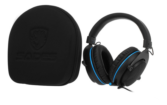 Sades 3.5mm Wired Gaming Headphones Cancelamento De Ruído