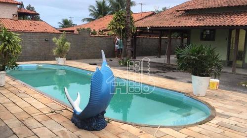 Casa Com 4 Dormitórios À Venda, 240 M² Por R$ 600.000,00 - Barroco (itaipuaçu) - Maricá/rj - Ca1356