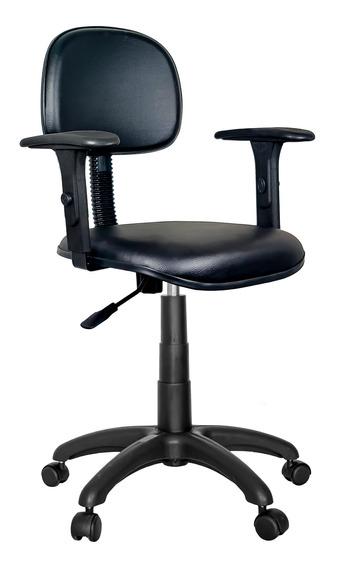 Cadeira Giratória Ultra Couro Ecológico Com Braço