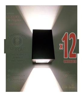 Iluminacion Exterior Artefacto De Pared Bidireccional X12un