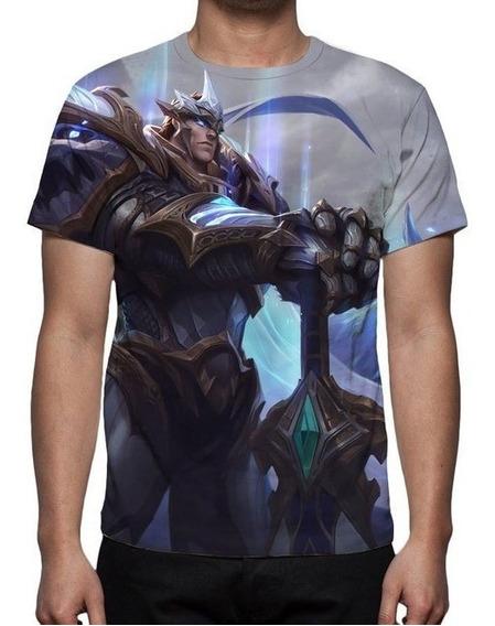 Camiseta, Camisa Lol Garen Deus Rei - Game - Costa Preta