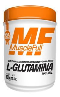 10x Glutamina Pura 300g Muscle Full 1x Whey Kult