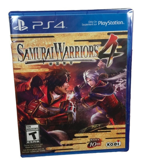 Jogo Samurai Warriors 4 Ps4 Mídia Física Novo Lacrado