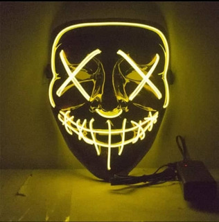 Mascara Led Neon Festa Balada Cosplay Hallowenn Rave