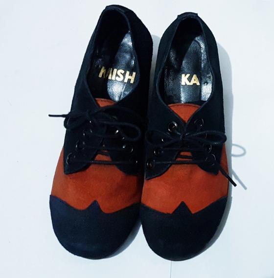 Zapatos Mishka N° 36- Cuero- Abotinado- Hush- Viamo- Prune
