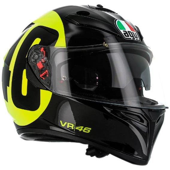 Casco Agv K3 Sv Bollo 46 Valentino Rossi Gp Free Pinlock Fas