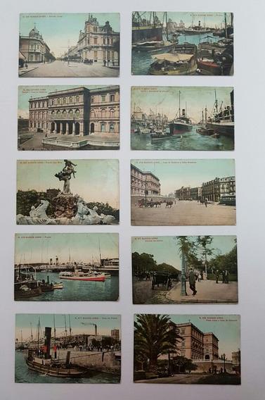 Coleção Cartões Postais Raros Antigos Da Argentina Lote 4