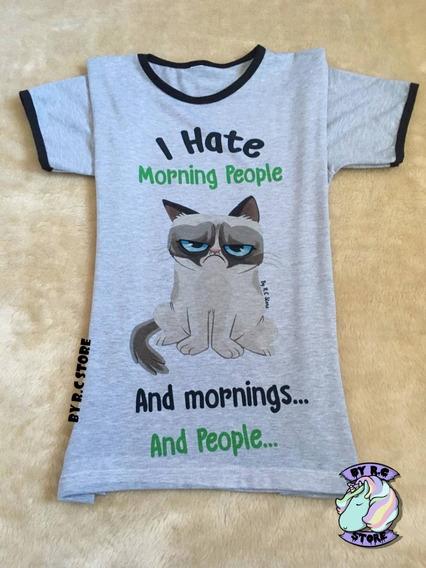 Remera Grumpy Cat Unisex Gatito Enojado Diseños Originales