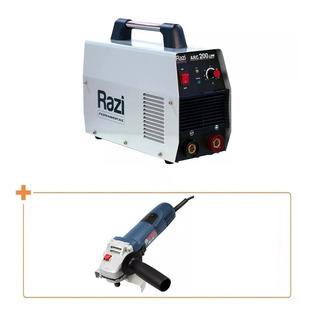 Máquina De Solda Inversora 200d + Esmerilhadeira Bosch