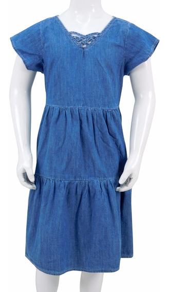 Vestido De Mezclilla Para Niña. Estilo 7146