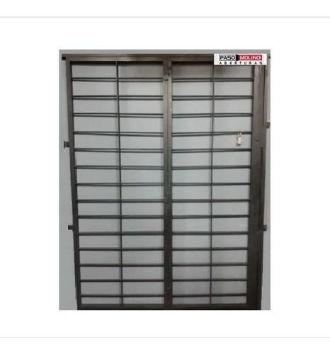 Puerta Reja Horizontal 150x200 En Hierro 12mm