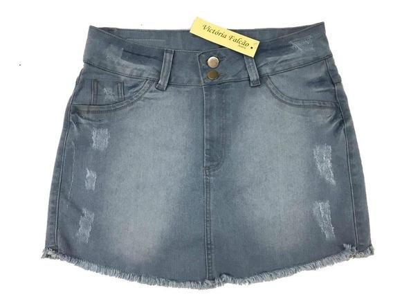 Kit 2 Short Saia Jeans Plus Size Peq Defeitos 44 Ao 62 64 66