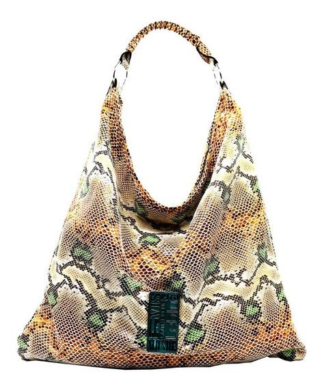Cartera Bolso Morral Mujer Cuero Ecologico Taupe Leblu C9180