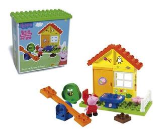 Set Bloques Casa Con Juegos 19 Piezas Peppa