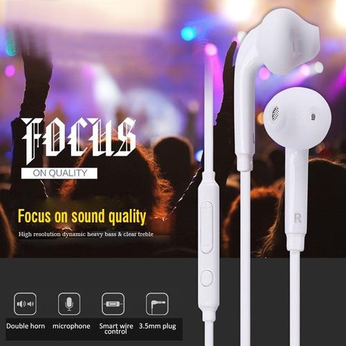 Auriculares 1,2m 3.5mm Control De Volumen Y Micrófono.