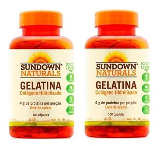 Gelatina Colágeno Hidrolisado - 2x 100 Cápsulas - Sundown