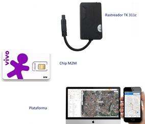Rastreador Veicular Tk 311c Com Plataforma E Chip M2m