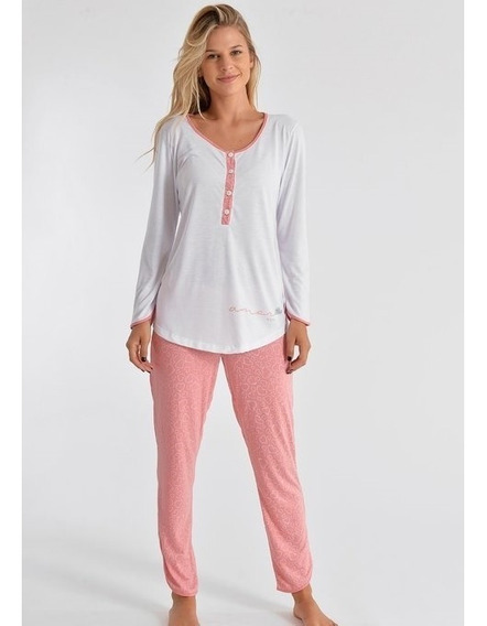Mora Pijama Conjunto Remera Pantalon Maternal Clara Z348b