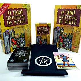 Tarô Universal De Waite Livro Tarot 78 Cartas Brinde Estojo