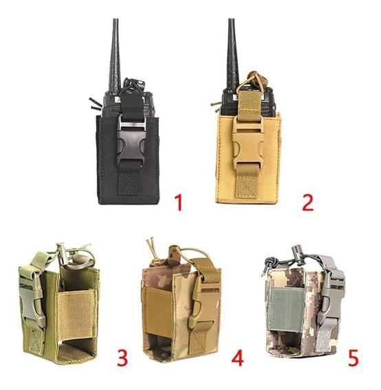 Porta Rádio Bolsa Modular Baofeng Preto Multicam Airsoft