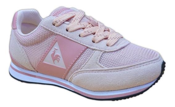 Zapatillas Le Coq Sportif Runner Urbanas Niña Original Rosa