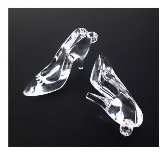 150 Sapatinho Acrílico Cristal Para Fazer Lembrancinha