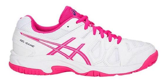 Tenis Asics Gel Game 5 Gs All Court - Infantil Branco E Rosa