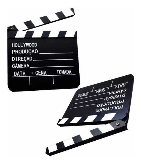 Claquete De Cinema Para Filmagem Ou Decoração You Tuber 20cm