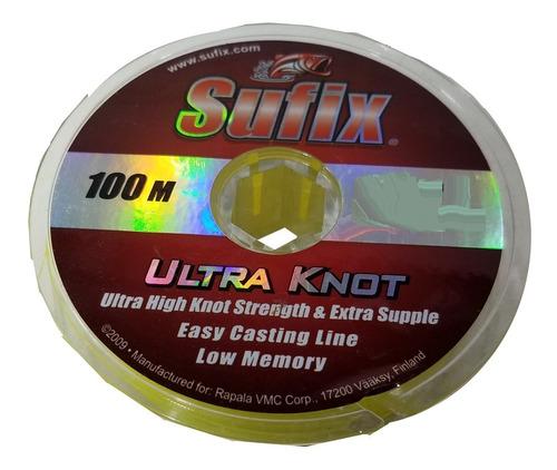 Nylon Tanza Sufix Ultra Knot Amarillo Fluo 0,28mm X 100mts