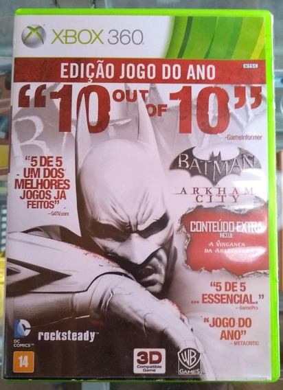 Jogo Xbox 360 - Batman Arkham City - Original
