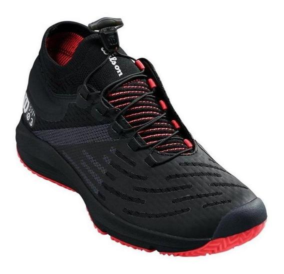 Tenis Wilson Kaos 3.0 Sft Masculino Preto / Vermelho