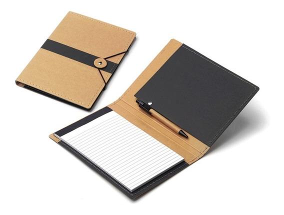 Cuaderno Carpeta Congreso Mini Ecológica C/block Y Bolígrafo