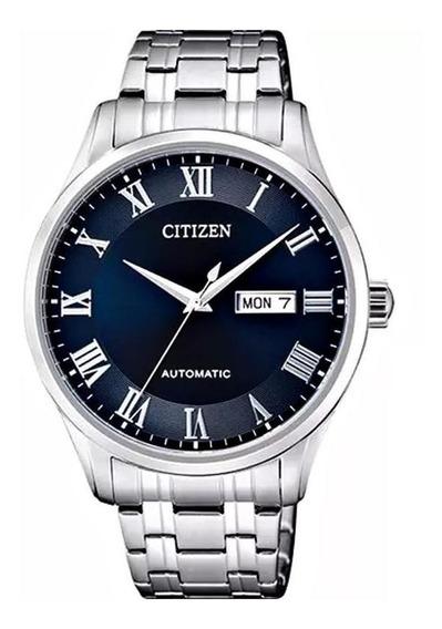Relógio Citizen Masculino Automático Fundo Azul - Tz20797f