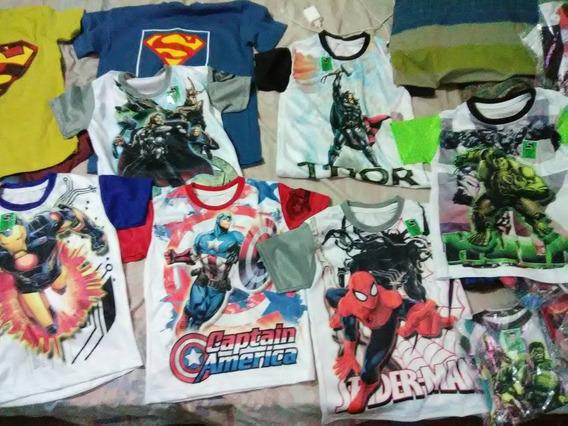 Franelas De Niños Superhéroes, Avengers