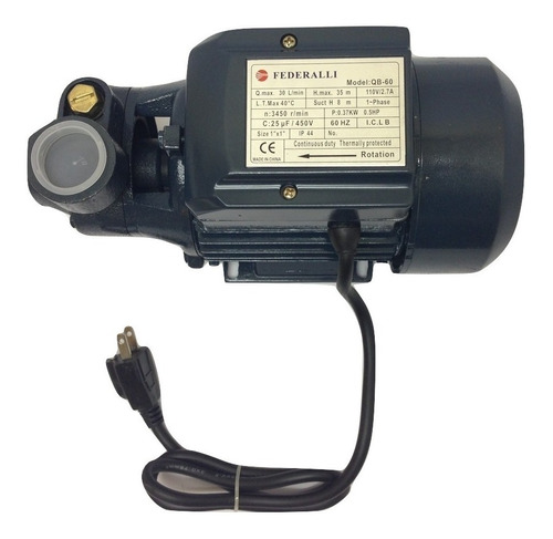 Bomba De Agua 1/2 Hp Federalli  110v 60hz Gs
