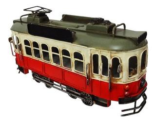 Tranvia Tren Rojo En Miniatura Coleccionable