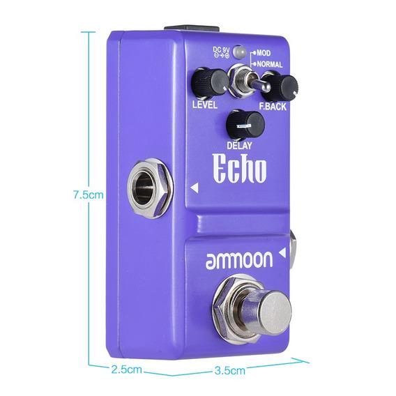 Pedal Ammoon Echo Delay Na Versão Nano ,para Guitarra
