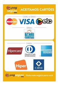 2 Adesivo Pagseguro Bandeiras Cartão Crédito E Debito Master