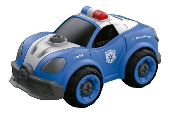 Auto Policía Diy Con Sonido Para Armar Y Desarmar