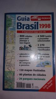 Livro Guia Quatro Rodas Brasil (1998) Excelente Estado