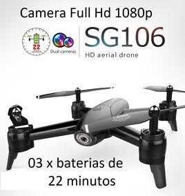 Drone Sg106 03 X Bat 22mins 02 Cam Full Hd 1080p Rtf Preto