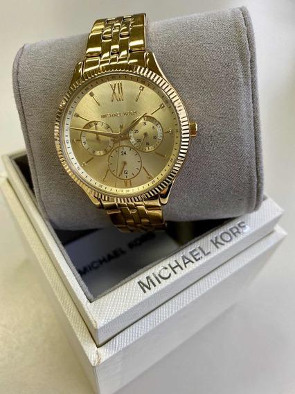 Relógio Michael Kors Mk4428 Feminino Dourado Original