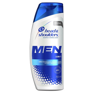 Shampoo Head & Shoulders 3 En 1 Para Hombres 700 Ml